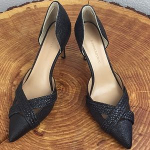 Banana Republic Black Pump Heel Braided Shoes 6.5